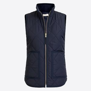 J. Crew Quilted Puffer Vest Navy S